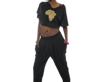 BLACK/GOLD africa top
