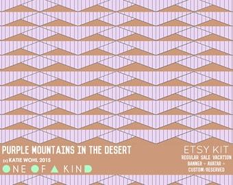 Purple Mountains in the Desert - ETSY KIT