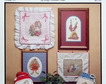 Judy Milhollin Gibbs EAR RESISTABLE Bunny Rabbits By Hollie Designs - Counted Cross Stitch Pattern Chart