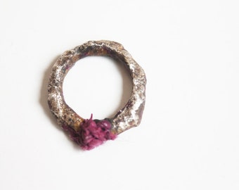 Unique sterling silver statement ring, Pink silver ring, Unique silver jewellery, Contemporary silver ring, Pink silver ring, Statement ring