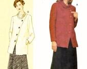 """Plus Sized Asymmetrical Suit Pattern Vogue 7471 (Womens bust sizes 38""""-40.5""""-43"""")"""