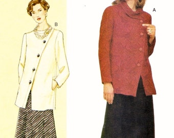 "Plus Sized Asymmetrical Suit Pattern Vogue 7471 (Womens bust sizes 38""-40.5""-43"")"