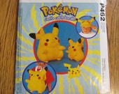 RARE Out of Print POKEMON Pikachu Backpack, Soft Sculpture Stuffed Doll in 2 Sizes & Hat - UNCUT Craft Sewing Pattern McCalls 462 / 2512