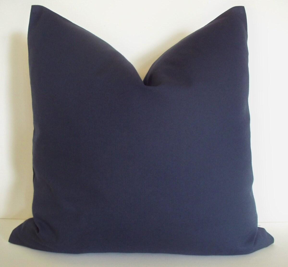 Indigo Blue Throw Pillow : Navy Blue Pillow Indigo Blue Decorative Pillow Cover BOTH
