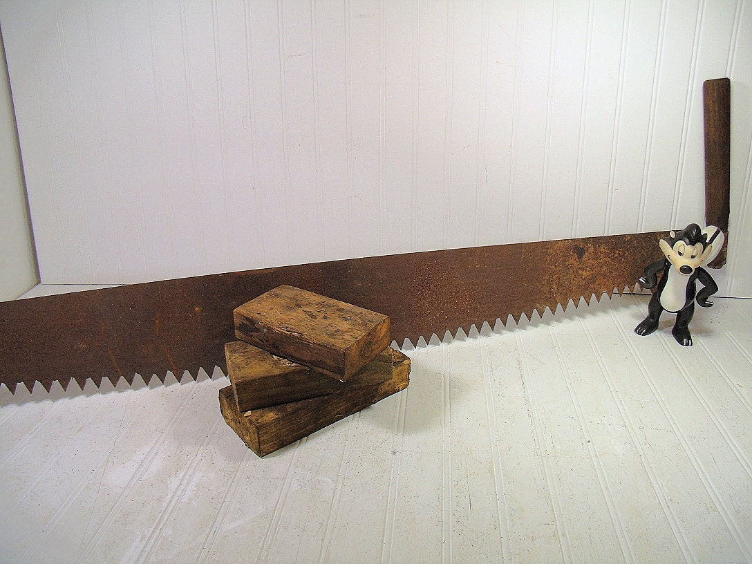 Antique Two Man Crosscut Collector S Logging Saw Vintage