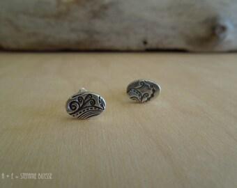 Botanical Stud Earrings Sterling Silver