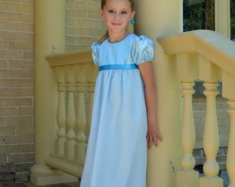 Wendy Darling Costume Girls, Peter Pan Tinkerbell Nightgown Size 6 Ready to ship