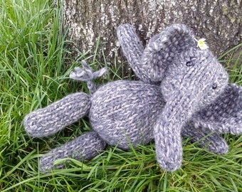 Hand knit elephant friend - you choose the color