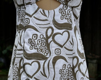 SALE Trina Turk White and Taupe Sundress WAS 49.99