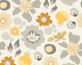 20 x 20 LAMINATED cotton fabric (aka coated oilcloth) - Floral Gray Lost & Found 2 (aka oilcloth, coated vinyl) Lost2