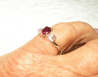 Sweet(.67tcw) Little Ruby Ring