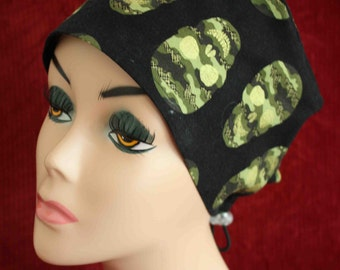 Camo Skulls Surgical Cap (biker/chemo/surgical)
