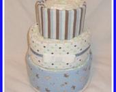Sale! Diaper Cake Baby Boy Puppy Themed-Baby Shower Centerpiece