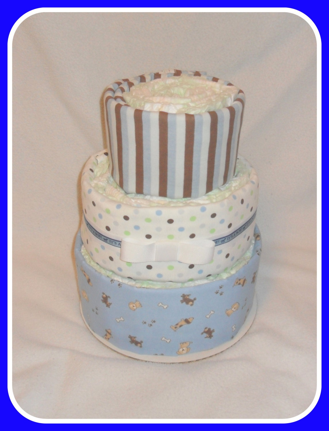 Baby Shower Cakes For Sale ~ Sale diaper cake baby boy puppy themed shower by care