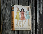 McCall 9719 1960s 60s Mod Mini Dress Vintage Sewing Pattern Size 8 Bust 31.5