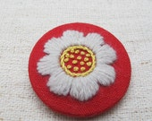 Embroidery - Pin Bordado - Embroidered Pin - Flower
