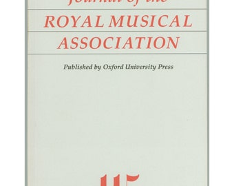 Journal of the Royal Musical Association Vol. 115 Part 2, 1990. Renaissance Music, Ducal Cappella, English Country Psalmodists, Vintage Book