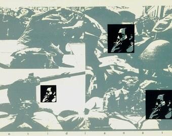 1993 Original Screenprint Tribute to Cortazar  Club del Grabado de Montevideo,  Limited Edition Serigraphy