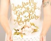 Wedding Cake Topper - You're My Greatest Adventure - Joyful Collection