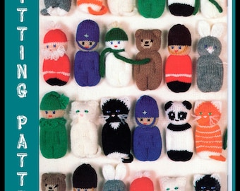 Instant Download PDF Vintage Seventies Christmas Decorations Knitting Pattern