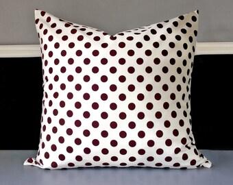 "Pillow Cover - Brown Polka Dot 20"" x 20"""