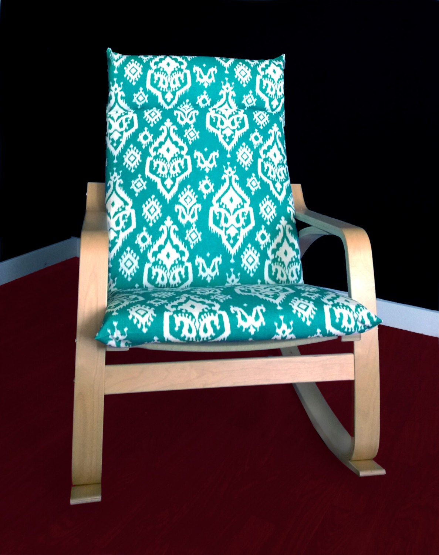 Ikea Algot Wall Upright Shelves ~ IKEA POÄNG Cushion Slipcover Raji Ikat Jade by RockinCushions
