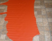 """Leather  93""""x37"""" Orange DIVINE line Top Grain 19.50 sq ft Cowhide  2-2.5oz /.8-1mm PeggySueAlso"""