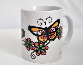 Indian Summer Butterfly Mug