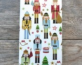 Ships Free - Nutcrackers Christmas Wrapping Paper, 2 Feet x 10 Feet - Free US shipping