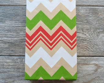 Chevron Kraft Christmas Wrapping Paper, 2 Feet x 10 Feet