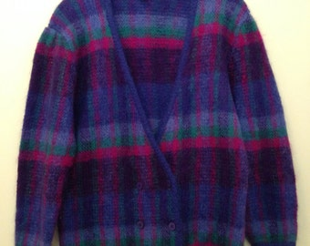 80s Oversized Christian Dior Mohair Blend Cardigan Sweater