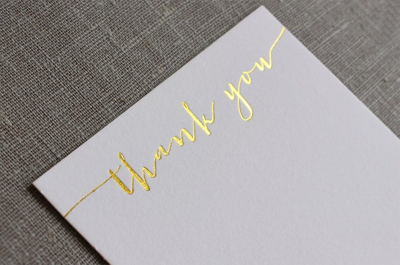 What to write in a wedding thank you card trendy new designers gold foil thank you cards letterpress thank you cards calligraphy thank you cards solutioingenieria Images