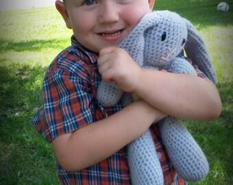 Crochet Gray Bunny