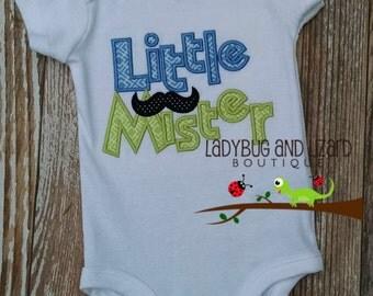 Little Mister Mustache Bodysuit Size NB-6M