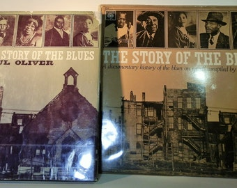 The Story of the Blues Book and Record Combined Collectible Set by Paul Oliver