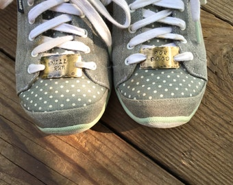 Shoelace Tags, Will Run For Food, Customized