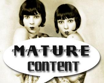 MATURE... Tie Me Up, Tie Me Down... Instant Digital Download... Vintage Erotic Fetish Photograph... Vintage Nude Photo