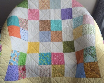 "It's A Scrap Happy Delight In This 41.5"" X 41.5"" Quilt"