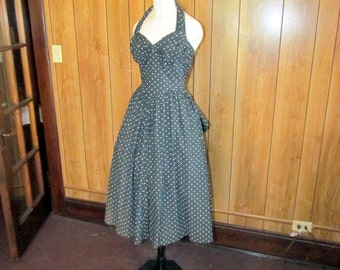 Fabulous POLKA DOT Black PINUP Dress
