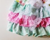 Baby Girl Bloomer-Fall bloomer-pink and mint-diaper cover-Modern-ruffle diaper cover-pink mint-Fall Baby girl