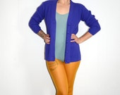 Vintage Purple Cardigan Hipster Clothes