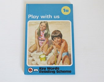 Vintage Ladybird Book - Play with us 1a - Peter and Jane - Ladybird Key Words Reading Scheme - Ladybird Books - Gloss Cover