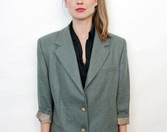 Vintage Sage Green Blazer Jacket
