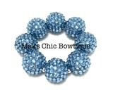Toddler, Girls, Teen, Ladies All Bling Blue Sparkle Chunky bracelet, Princess bracelet, Flower girl bracelet, Mermaid chunky bracelet