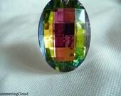 Crystal, oval, faceted, briolette, huge, big, large, drop pendants 65 x 40mm, 1 pc, sahara, peacock, color changing, pendant, bead,quartz,