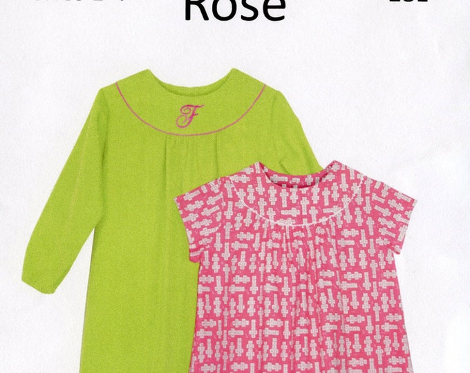 Childrens Corner Pattern / Rose Pattern / Round Yoke Dress Pattern / Children's Corner  #281