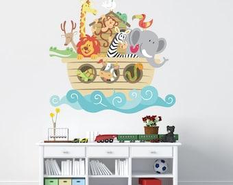 Noahs Ark Decal REUSABLE Fabric Ecofriendly NO PVCs Decals, SD10