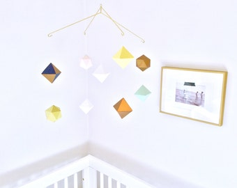 custom multi-layered geometric mobile - baby mobile - nursery mobile