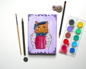 A Portrait Of A Cat As Edward VI Cat Painting Original Art Cat Canvas