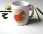 Fox Mug Cute Mug Woodland Mug Tea Lover Mug